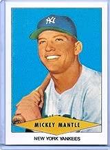 Mickey Mantle 1954 RED HEART Vintage Baseball Card Reprint! Yankees Legend!