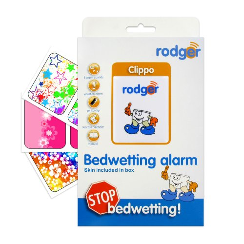 Rodger Clippo Bedwetting Enuresis Alarm w Bright Art Decal Pack