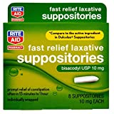 Rite Aid Pharmacy Laxative, Fast Relief, 10 mg, Suppositories, 8 Suppositories
