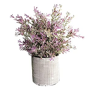 Cyrra 8 Inch high Bathroom Vanity Decor Ideas Indoor Artificial Grass Plants for Shelf Nandina
