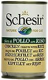 Schesir Katzenfutter Hühnerfilet und Reis 140 g Dose, 8er Pack (8 x 140 g)