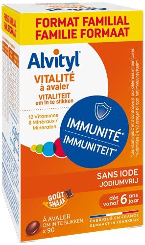 Alvityl - Comprimés Vitalité - 12 vitamines et 8 minéraux - Dès 6 ans - Formate éco 90 comprimés
