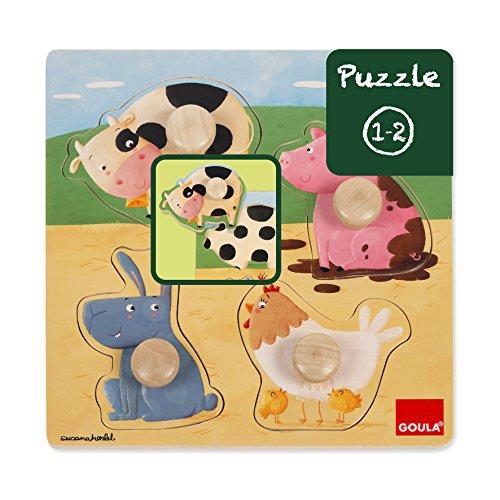 animales de granja Conjunto de Puzzles, multicolor (53069)