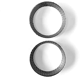 Exhaust Port Gasket for Harley, Made of Graphite and Steel Mesh For 1984-2020 Most Harley Davidson Bikes, Touring, Sportster, Dyna, Softtail, Evo, etc. 1 Pair 2pcs