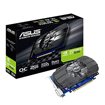 ASUS PH-GT1030-O2G PCI Express Graphics Card (NVIDIA Geforce, GDDR5 64 Bit Memory) - Black
