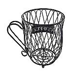 Amecty Cesta de Almacenamiento de cápsulas de café, Soporte de cápsulas de café, Soporte de Taza de café para Nespresso, Dolce Gusto (Negro)