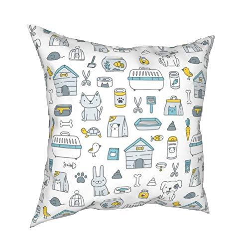 Melendleo - Fundas para sofá o coche, decoración de casa, 45 x 45 cm, diseño de tienda de mascotas Kostolom(1)