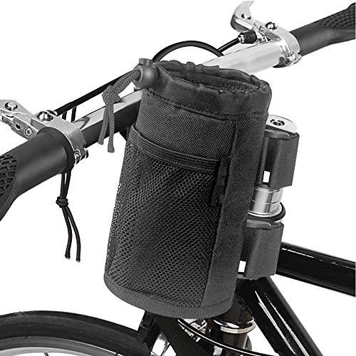 Parkarma Borsa Sella Portaborraccia per Bicicletta Portabicchieri Bici con Cinghie Adesive e Coulisse di Prolunga di Adatta per Passeggino Tutte Le Biciclette Uso Quotidiano Pendolarismo