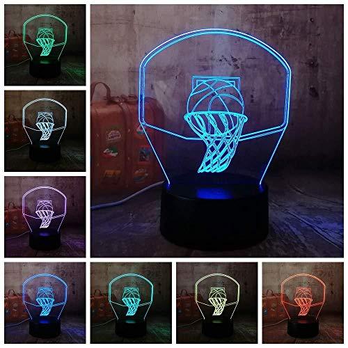 Nachtlicht Neue 3D Basketballkorb Sport Dekoration LED Illusion USB Touch 7 Farbwechsel Lampe Schlafzimmer Nachtlicht Kind Jungen Mann Geschenk
