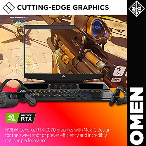 OMEN X 2S by HP 2019 15-inch Gaming Laptop With Secondary Touchscreen Display, Intel i7-9750H, NVIDIA RTX 2070 With Max-Q 8 GB, 16 GB RAM, 512 GB SSD, VR/MR Ready, Windows 10 Home (15-dg0010nr, Black)
