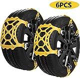 Catene da neve, 6 pezzi catena universale per auto pneumatici antiscivolo Catene di sicurezza per...