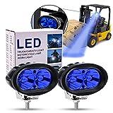 Led Forklift Safety Light, 2x Blue 20W LED Forklift Lights 12V 24V Warning Work Warehouse Lights SpotLight For Fork Truck Security Indicator