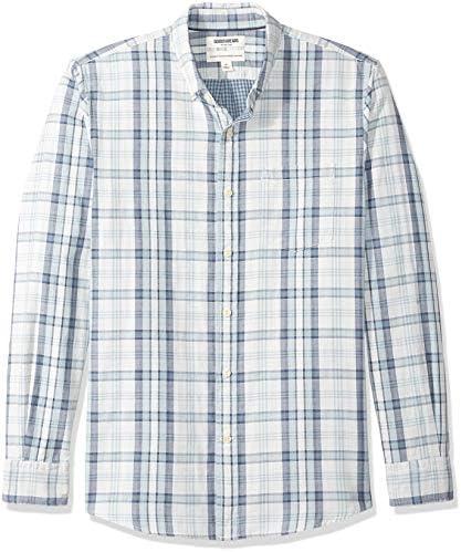 Amazon Brand Goodthreads Men s Standard Fit Long Sleeve Doubleface Shirt Light Blue Plaid X product image