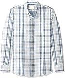 Goodthreads – Camisa reversible de manga larga y corte estándar para hombre, Azul claro a cuadros, US L (EU...