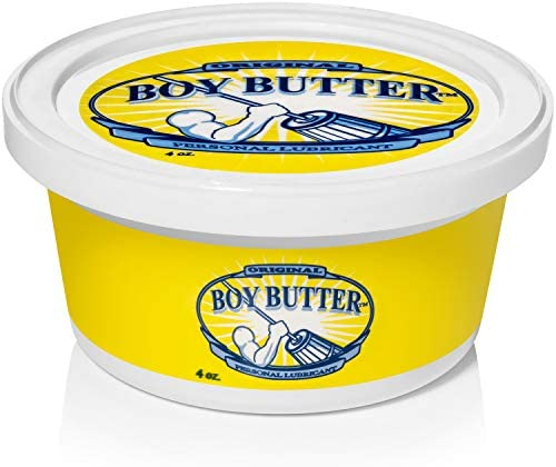 Boy Butter 2 Ounce Mini Personal Lubricant | Natural Coconut Oil & Organic Silicone | Non Staining, Washable & Slick Lube for Adults | Original Formula Oil Based Cream Made in The USA