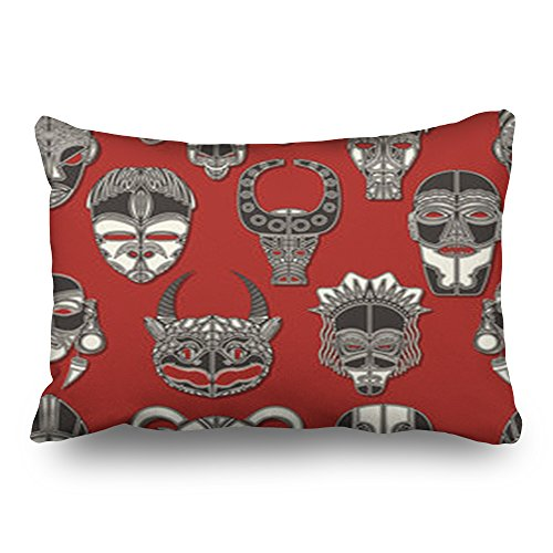 LOLYeah Gooi Kussen Covers Tribal Masker Naadloze Texturen Afrikaanse Tekenen Symbolen Tiki Textuur Decoratieve Kussen Custom Home Decor Kussenslopen