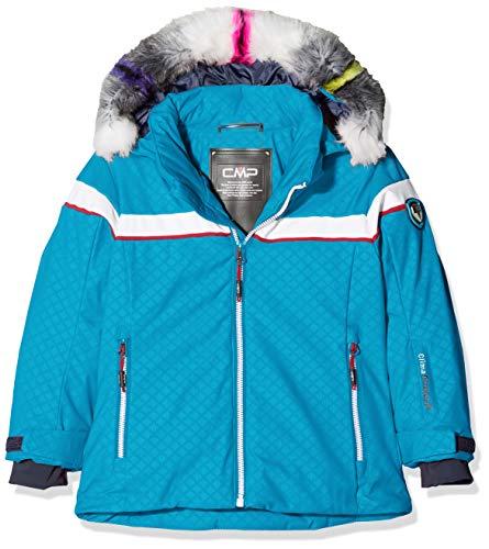 CMP Mädchen Jacke Wattierte 7000 Eco Fur Skijacke, Blue Jewel, 176, 38W0395