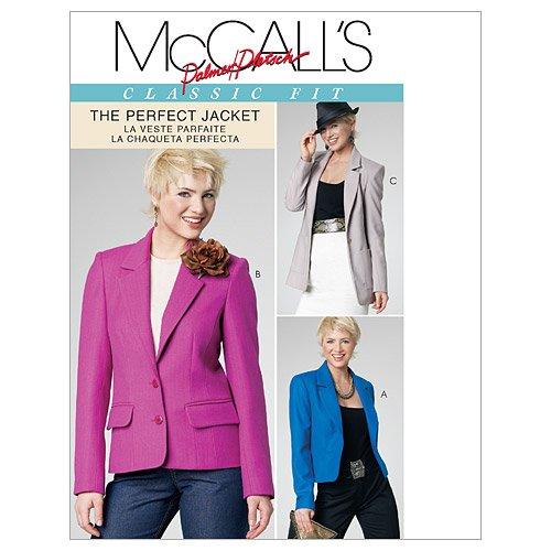 McCall's M6172- Patrón de Costura para Chaquetas de Mujer