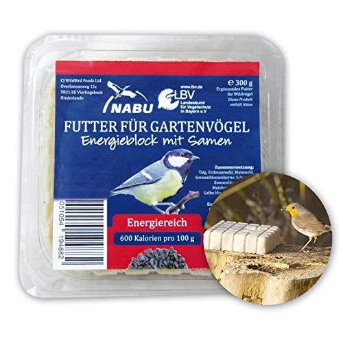 CJ Wildlife Energieblock mit Samen für Wildvögel, Sparpack 7 x 300 g