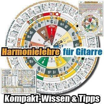 """Harmonielehre & Musiktheorie einfach, schnell & effektiv lernen am """"Musiker-Kompass Gitarre"""": sehen-spielen-hören-verstehen. Zum Üben, Spielen lernen, Transponieren, Improvisieren, Songwriting."""