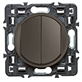 Legrand 099527 Céliane Interrupteur double, 250 V, Graphite