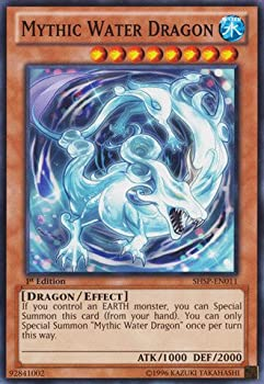 YU-GI-OH! - Mythic Water Dragon  SHSP-EN011  - Shadow Specters - 1st Edition - Common