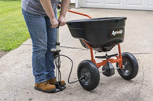 Agri-Fab AG45–0462 SmartSPREADER Düngerstreuer Push Typ Broadcast Smart Spreader – Schwarz/Orange;;;;; - 5