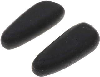 CUTICATE 天然石ホットストーン マッサージ用玄武岩 マッサージストーン ボディマッサージ 実用 2個 全2サイズ - 8×3.2×2cm
