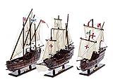 aubaho Nave Modelo 3X Santa Maria Pinta y Nina Flota de Colón carabela Buque no Hay Kit