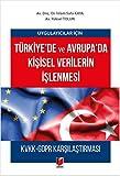 Uygulayıcılar için Türkiye'de ve Avrupa'da Kişisel Verilerin İşlenmesi: KVKK-GDPR Karşılaştırması
