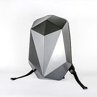 RJW Business Men's PC Polyhedron Mech Backpack Backpack Bag/Computer Bag/Multi-Function Large Capacity Bag Fashion (Color : Silver)