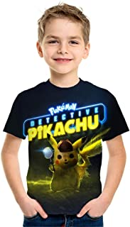 Personalizzato Per Bambini Ragazzi POKEMON PIKACHU T-shirt Bianco