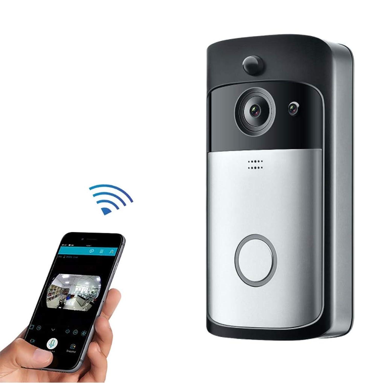 信頼感嘆監査ワイヤレスドアベル無線LANワイヤレススマートドアベルワイヤレスワイヤレスドアベルモバイルリモート監視ビデオインターコムドアベルナイトビジョン166°広角動作検出