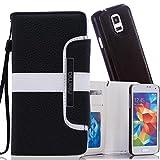 numia Schutzhülle für Samsung Galaxy Note 3 Neo Hülle [herausnehmbares Hülle] PU Leder Tasche Kartenfach [Schwarz]