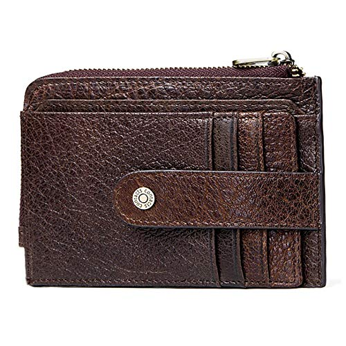 Bag RFID Wallet Men's Retro Driving License Leather Credit Card Holder Coin Purse Men's Short Hand Clutch Wallet (Color : Coffee, Size : S)
