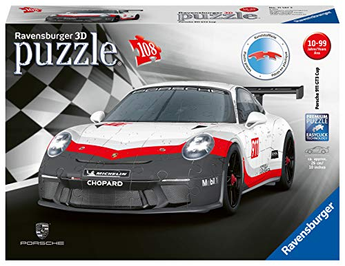 Ravensburger Porsche GT3 Cup 108 piece 3D Jigsaw Puzzle for Kids age 8 years and up. Ideal Porsche Gifts