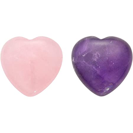Heart Love Palm Stone Natural Amethyst Crystal Heart Shaped Crystal Amethyst Heart Worry Stones Anxiety Relief Stone