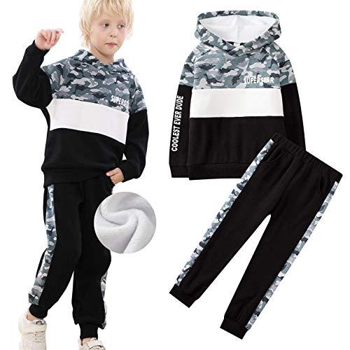 DTZW Juego de 2 piezas para niños de algodón con estampado de camuflaje de manga larga para primavera y otoño (color: C, tamaño: 6 – 7 años)