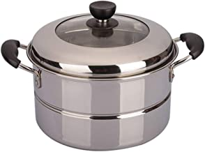 ZYSWP Steamer 24CM Combination Cover Single Layer Stainless Steel Gas Induction Cooker Universal Cookware Household Steamer