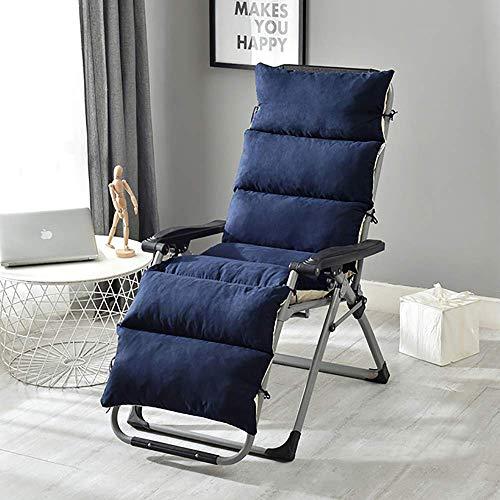 DJ stoel kussen Lounge, suède wasbare schommel met stropdas voor outdoor chaiselongue tuin terras grijs 155x50x12cm (61x20x5inch)