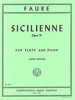 フォーレ: シチリアーノ Op.78/インターナショナル・ミュージック社/ピアノ伴奏付フルート・ソロ