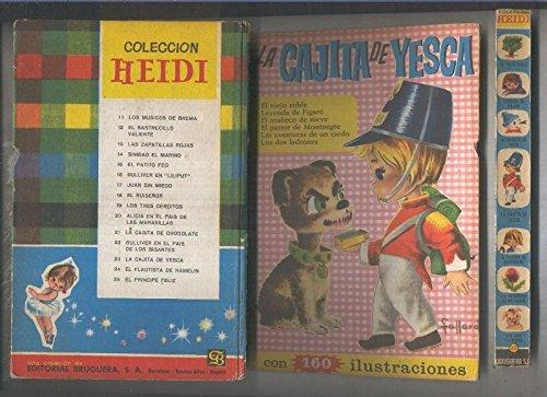 Heidi numero 23: La cajita de Yesca (cubierta con el lomo suelto y estropeada segun imagen)