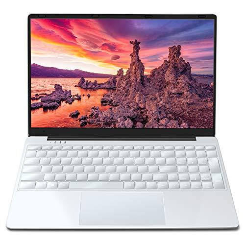 Notebook 15.6 Pollici MEBERRY Ultrasottile Full HD Laptop: Windows 10 PC con 8GB RAM 256GB SSD | Quad Core 1.5 GHz | HDMI | 5G /2.4G WIFI | Bluetooth 5.0 | Micro SD | Tastiera Retroilluminata, Argento