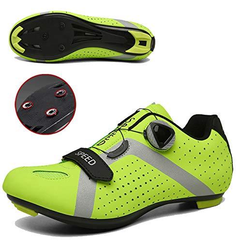 JKC Zapatos de Ciclismo para Hombres Mujeres con Tacos SPD Compatible Shimano...