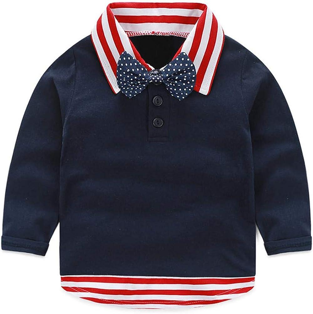 Mud Kingdom Little Boys Dress Shirt Long Sleeve with Tie Cute School Wear