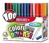 Feutre Coloriage Pointe Large - Presentoir De 100 [Jouet]