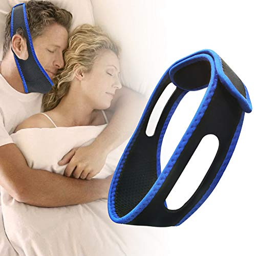 Cpap Chin Straps for Men, Anti Snoring Chin Strap for CPAP Users, Effective Anti Snore Device Stopper for Snoring Solution, Average Size