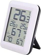 Biuzi Termómetro de Interior, higrómetro Digital Termómetro de Interior Humedad y Temperatura precisas para hogar, Oficina, Invernadero, Mini higrómetro