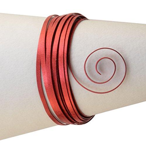 Vaessen Creative Hilo de Aluminio para joyería, Rojo (Rosso)