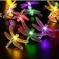 Peaubogo 30 LED Dragonfly Solar String Lights Waterproof Fairy Lighting Outdoor Garden Landscape Decoration